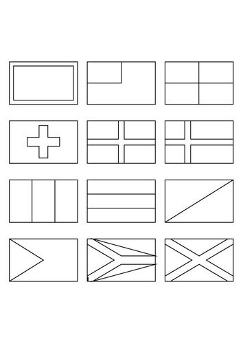 Coloring Page National Flags Flag Coloring Pages World Flags