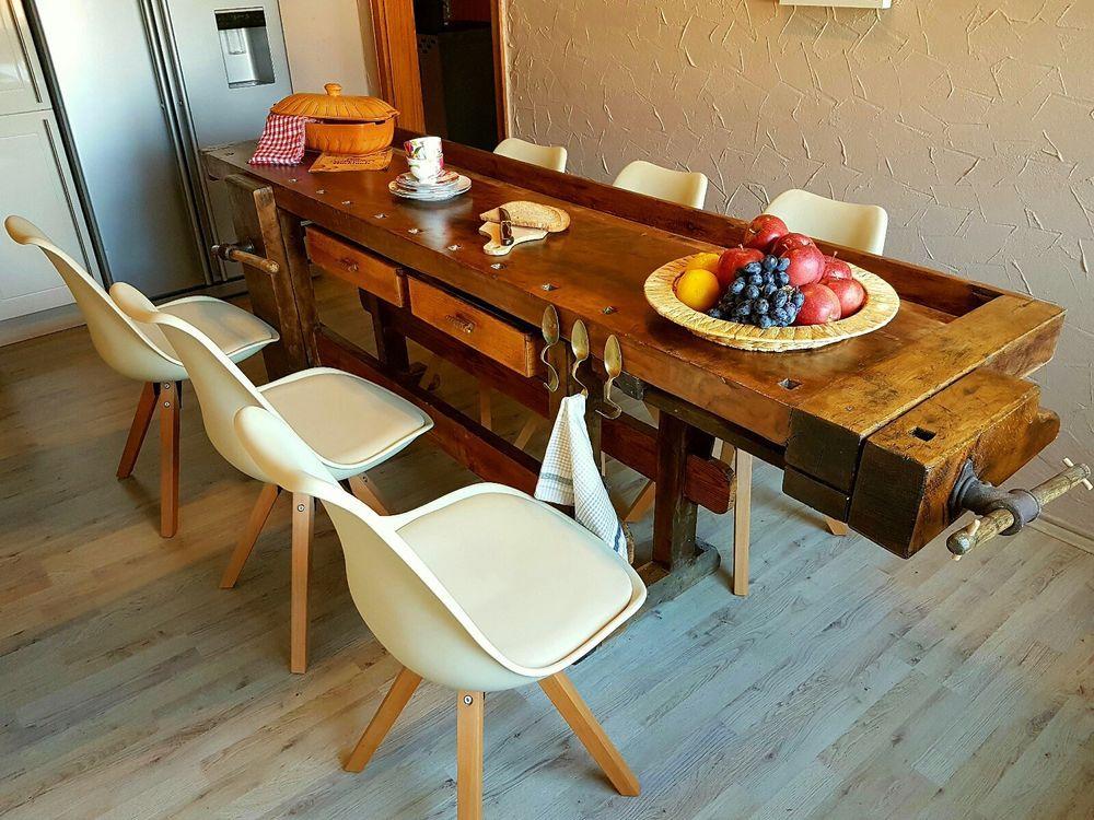 hobelbank werkbank arbeitstisch komplett restauriert in heimwerker werkstattausr stung. Black Bedroom Furniture Sets. Home Design Ideas