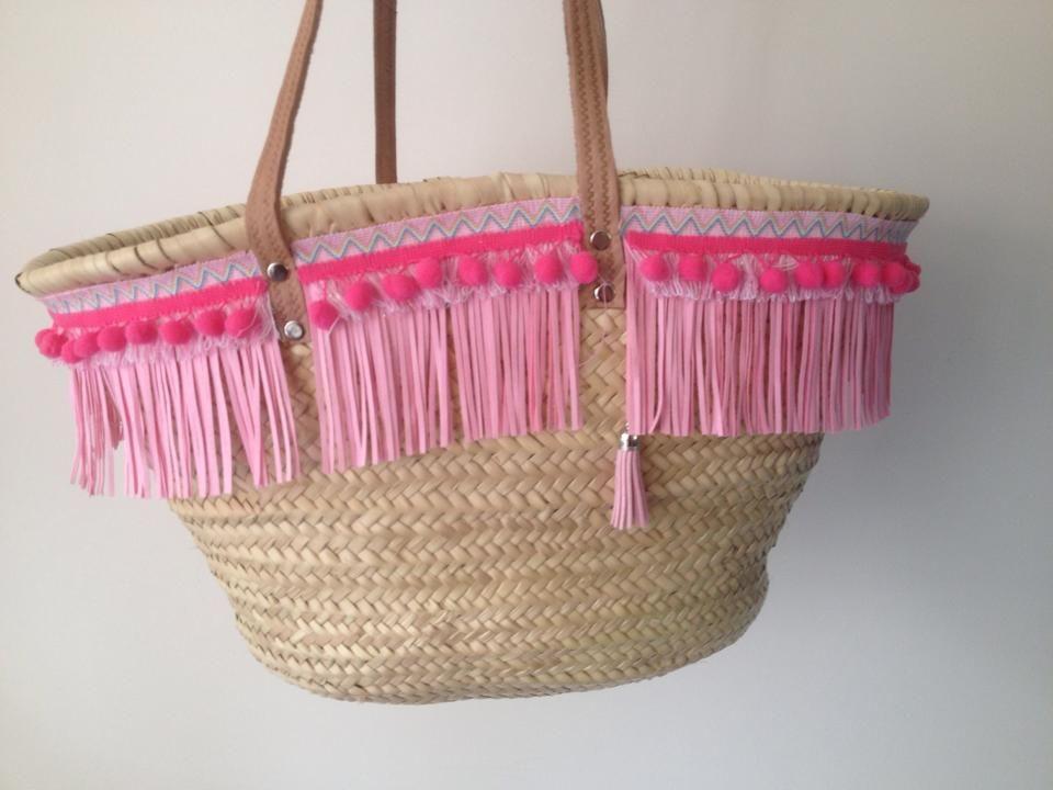 Strandtas Riet Maken : Ibiza tas roze design by evita rekkers tassen
