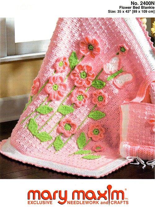 Flower Bed Blankie Pattern   Pinterest