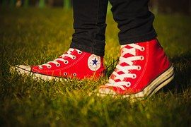 Converse, All Star, Logo, Red, Shoes