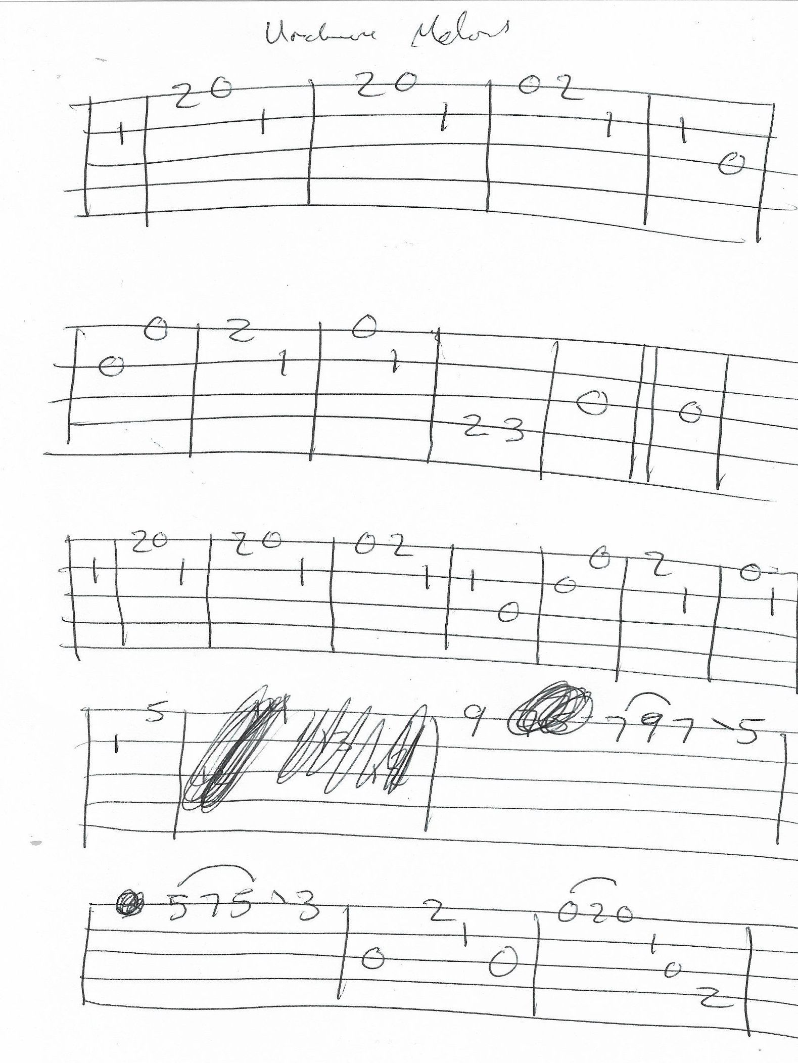 Unchained Melody Banjo Melody Tab Page 1 Of 2 With Images
