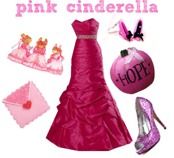 """pink cinderella"" by princess-kirstin ❤ liked on Polyvore"