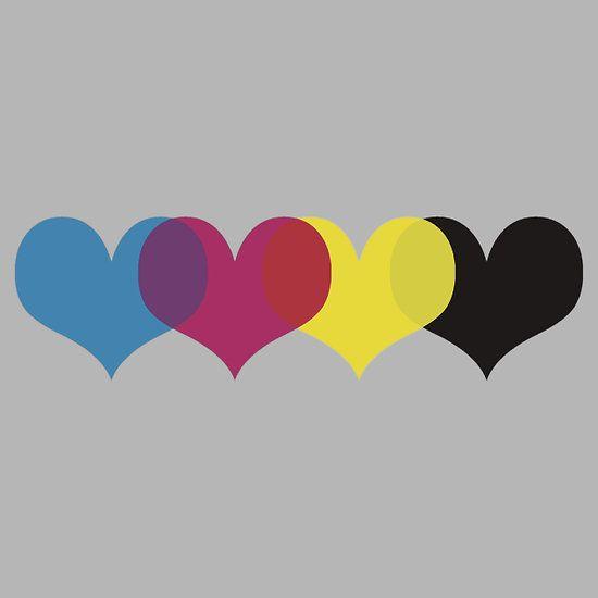 cmyk hearts