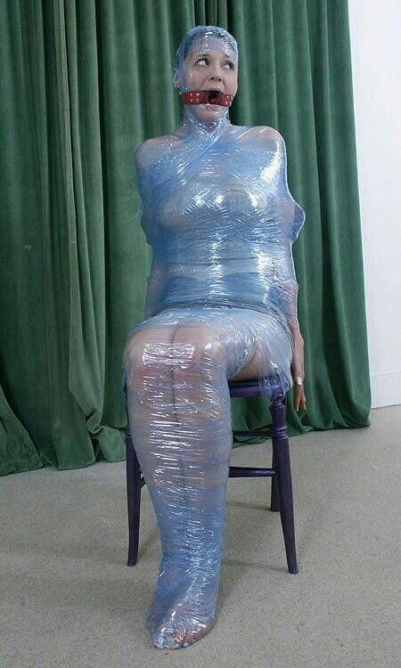 Fetish tape plasticwrap images 341