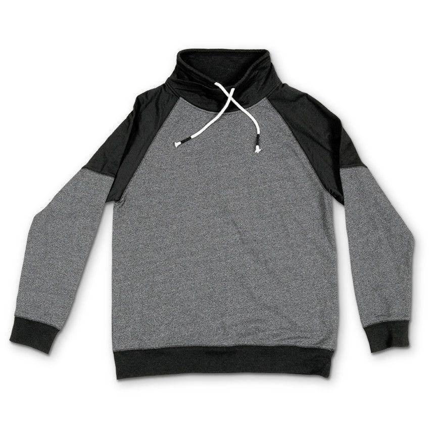 Retrofit Colorblocked Funnel Sweater