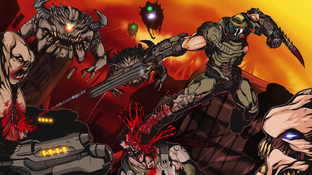 Found Some Cool Art From Doom Eternal Doom Videogame Doom Doom Game