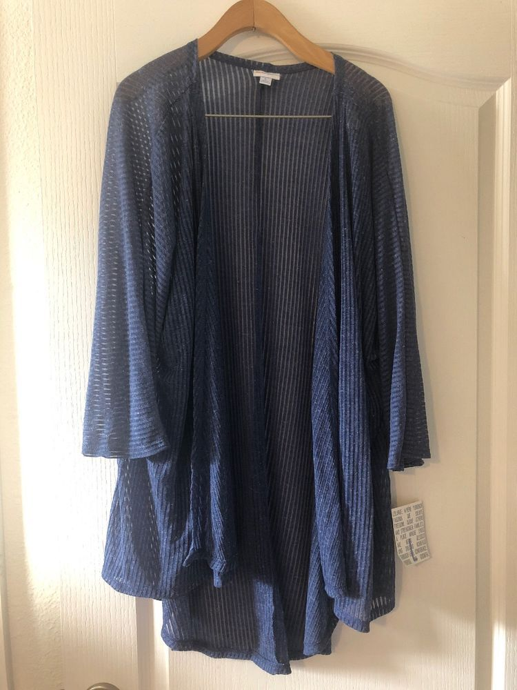 6ab200f2a2bcc NWT LulaRoe Lindsay Size L Heathered Blue  fashion  clothing  shoes   accessories  womensclothing  tops (ebay link)