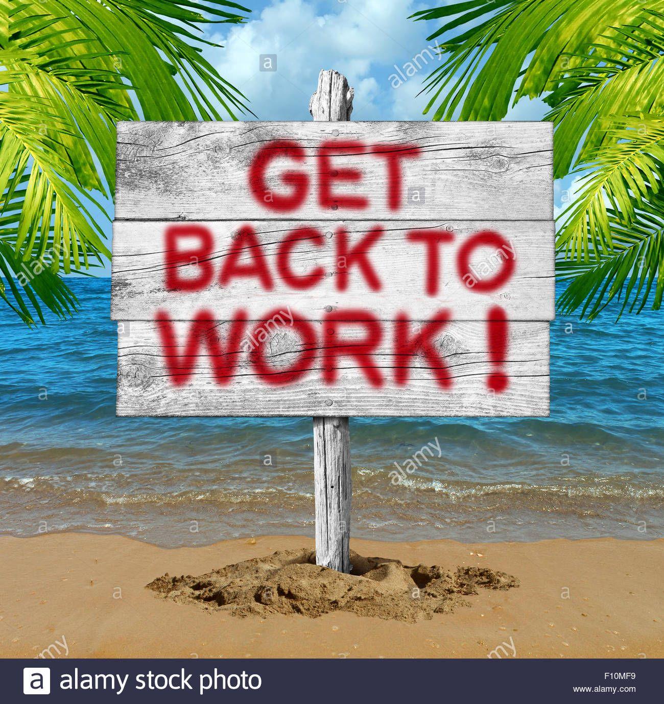 Urlaub Zu Ende Wieder Arbeiten