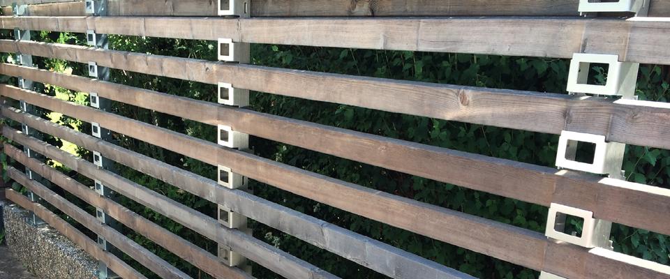 Zaunbau Nürnberg ystempfosten trigone verbindung gartenabtrennung trennwände