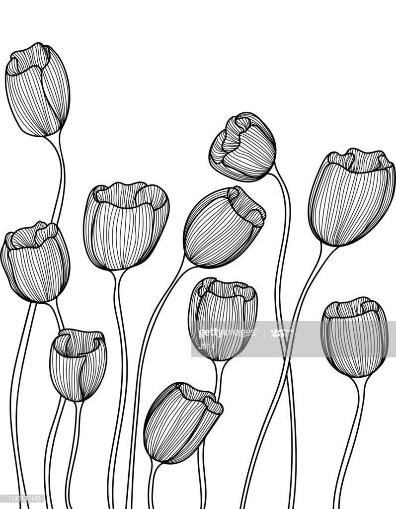 Seamless Doodle Flowers Illustration #Ad, , #Affiliate, #Doodle, #Seamless, #Illustration, #Flowers
