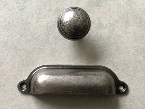 Cup Drawer Pull Handles Dresser Pulls S Antique Black Silver Pewter Kitchen Cabinet
