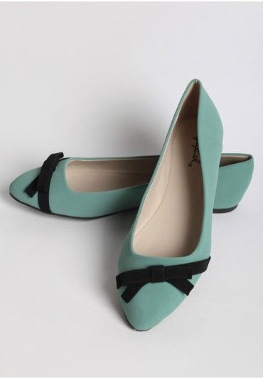 Mint Chip Bow Flats | Modern Vintage New Arrivals | Ruche
