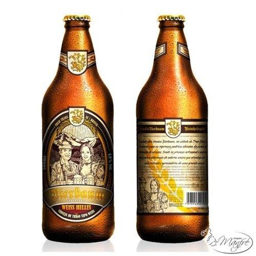 Cerveja Bierbaum Weiss Helles, estilo German Weizen, produzida por Cervejaria Bierbaum, Brasil. 4.9% ABV de álcool.