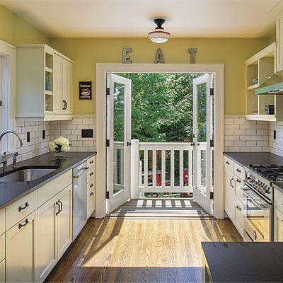 French Door Kitchen Httpfinehomebuilding9 Clever Kitchen