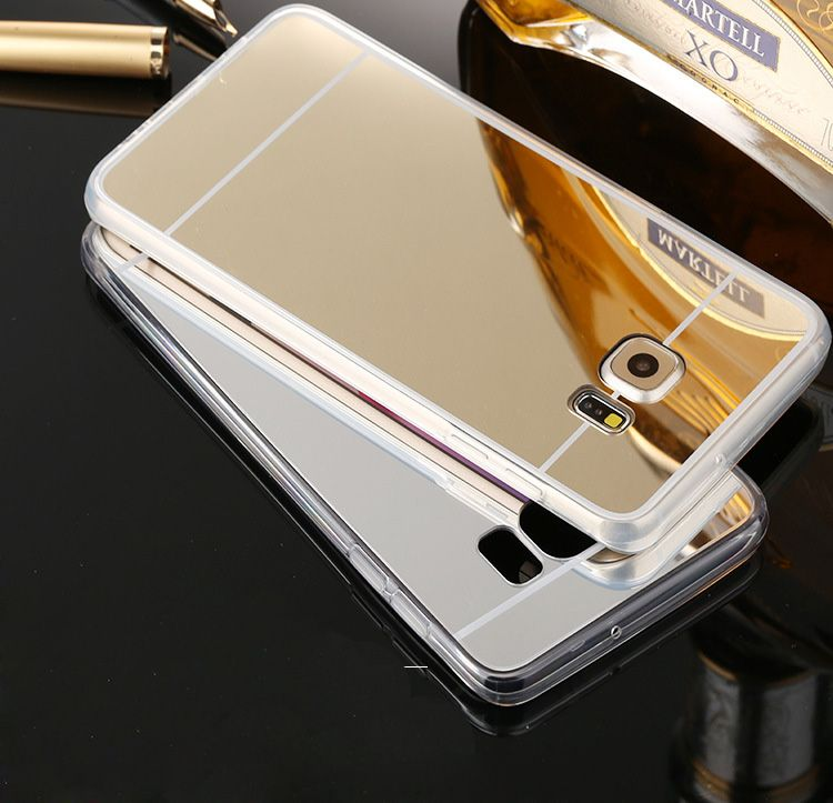 For Samsung Galaxy S6edge/Plus/S6 Luxury Mirorr make up Plating TPU soft Cover Case For Galaxy S6 edge S6