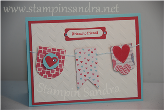 Hearts a Flutter Friend to Friend Card Stampin' Up! Idea
