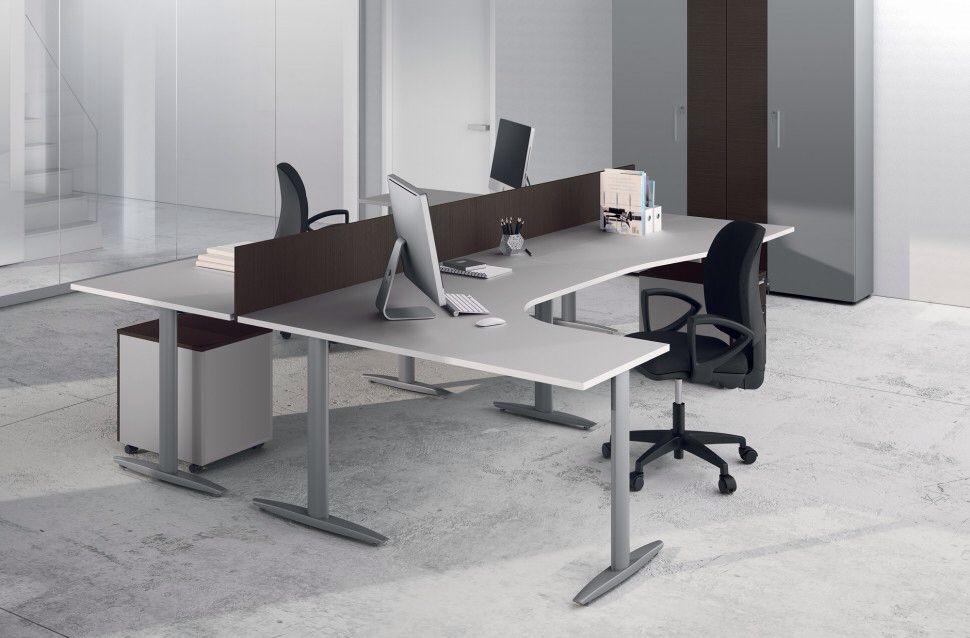 Comp Tk012 Ufficio Operativo Con Doppia Workstation Posizionate Ad Isola Con Divisorio Centrale Home Decor Home Furniture