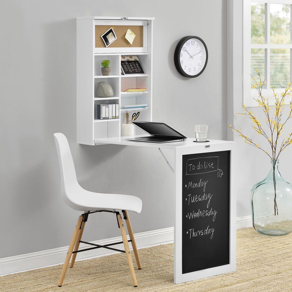 Metallregal weiß  en.casa]® Wandtisch Weiß Schreibtisch Tisch Regal Wand Klapptisch ...