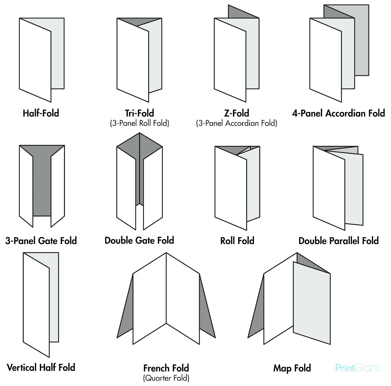 Legal Size Brochure Template Blog Types Of Paper Folds Free