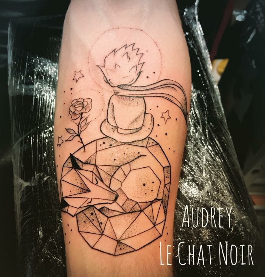 Petit Prince Renard Tattoo Tatouage Geometrique Graphique Tattoo