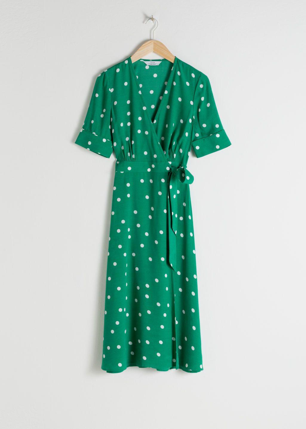 92af570f00ba Polka Dot Midi Wrap Dress in 2019 | Patterns | Dresses, Wrap Dress ...