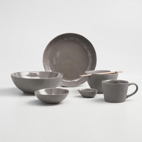 Crafted of stoneware with a charcoal matte exterior and a glossy interior our modern Asian-inspired soup bowls add sophistication to any table setting. & One of my favorite discoveries at WorldMarket.com: Charcoal Element ...