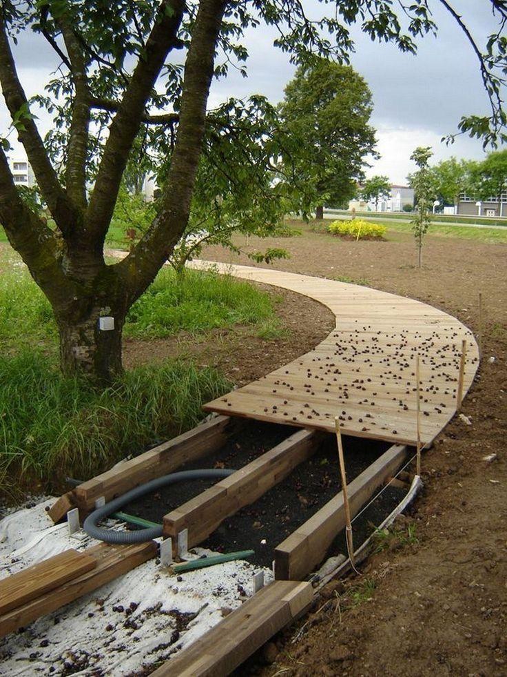 Photo of wooden garden paths Vines