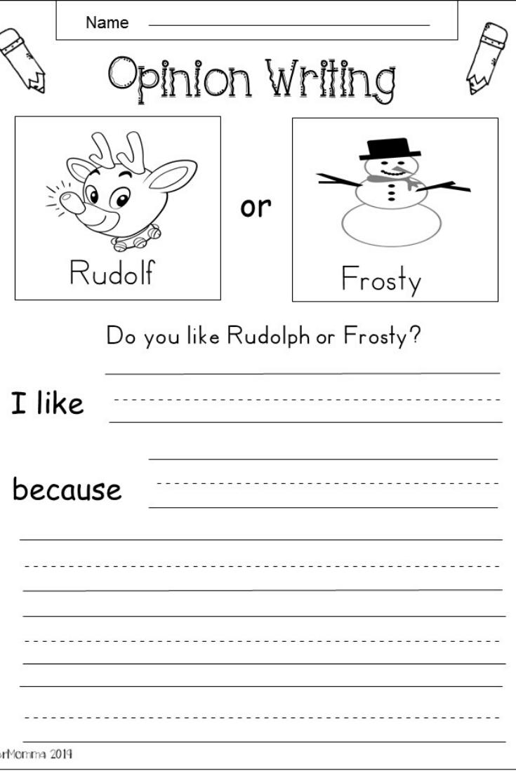 Free Kindergarten Christmas Writing Worksheet Kindermomma Com Kindergarten Writing Holiday Writing Opinion Writing Kindergarten [ 1102 x 735 Pixel ]