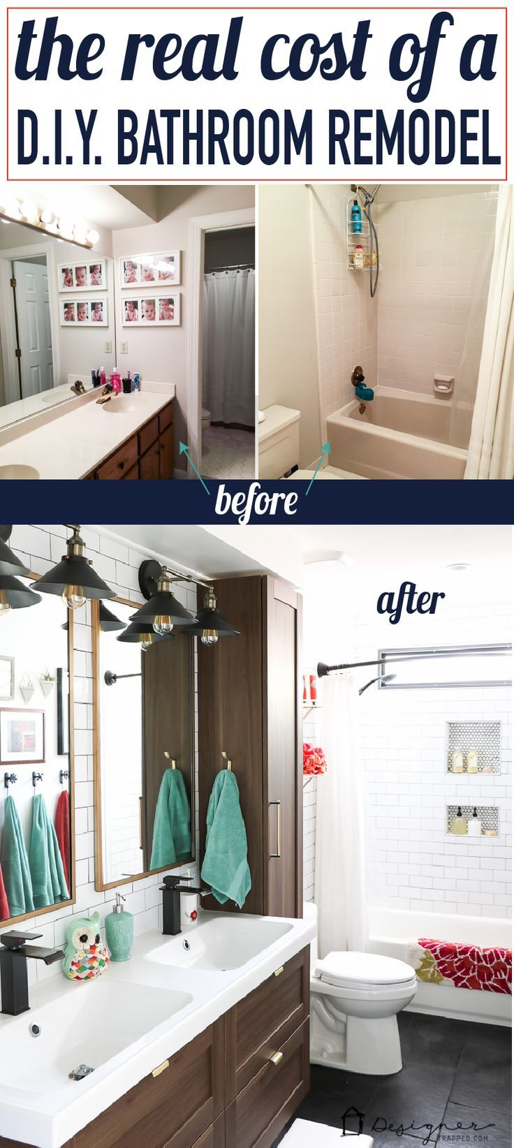 Iu0027ve Always Wondered How Much A Real DIY Bathroom Renovation Costs. This Is  The First Post I Have Seen That Gives Actual, Hard Numbers. And WOW, WOW,  WOW!