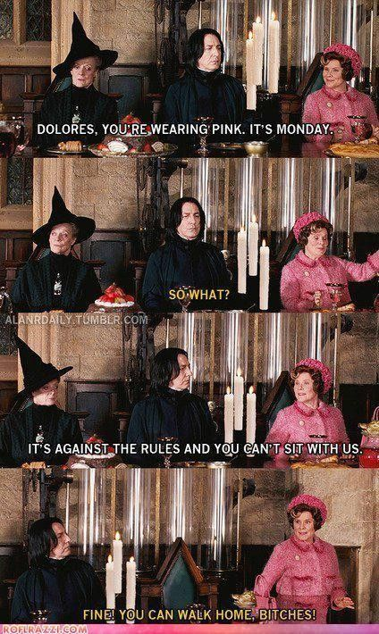 Oh, I do have an appreciation for anything Mean Girls, but Mean Girls and HP is like heaven.