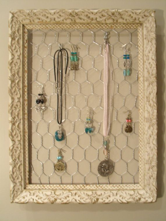 Antique Frame Jewelry Organizer Display Holder Frame jewelry