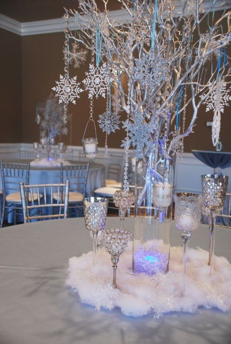 Happy Sweet 2016! Maria's Winter Wonderland Sweet 16 Birthday Celebration - Limani Designs #sweet16centerpieces