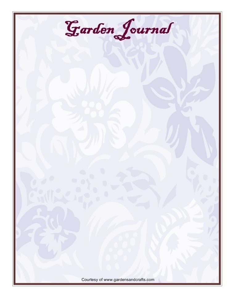 Garden journal templates journaling card pinterest journal and garden journal templates maxwellsz