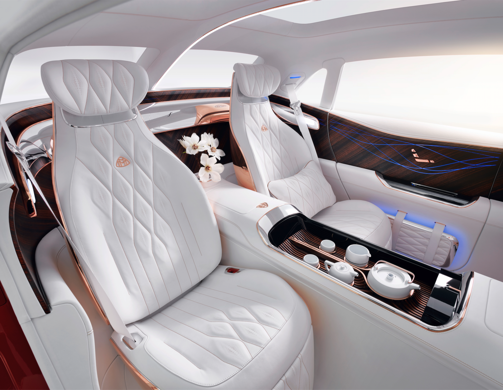 The Vision Mercedes Maybach Ultimate Luxury Concept Looks Strange Is Luxurious New Luxury Cars Luxury Car Interior Mercedes Maybach