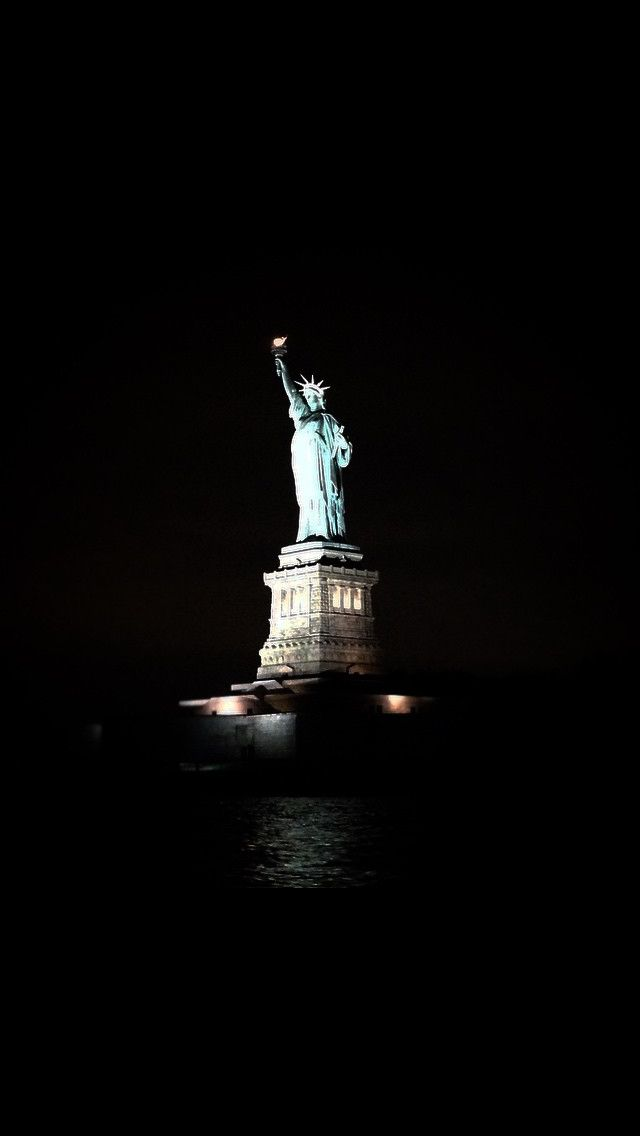 Statue of Liberty at night. So beautiful New York City.