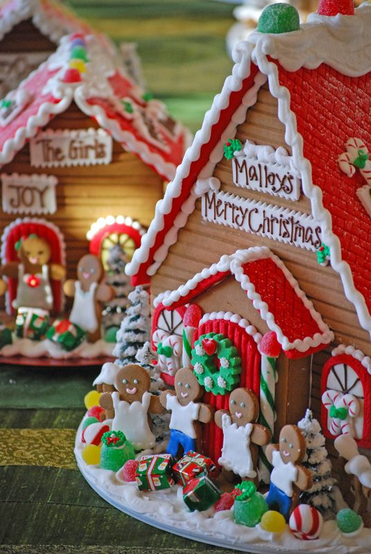 Personalized Gingerbread Houses Gingerbread House Decorations Christmas Gingerbread House Gingerbread House
