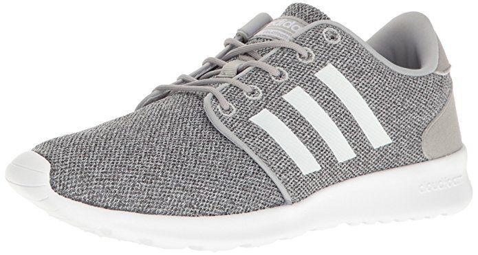 e3bec8531929c Size 8 - Color - Grey - adidas Women s Cloudfoam QT Racer Running Shoe  White Clear Onix
