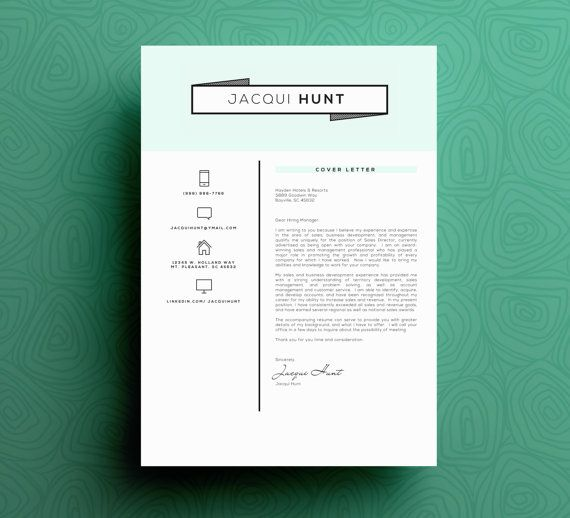 Great resume design and resume format with a minimalistic look - great resumes