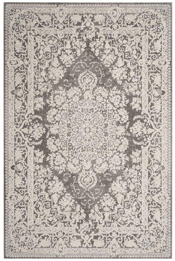 Safavieh Reflection Dark Gray And Cream 10 X 14 Area Rug Dark Carpet Textured Carpet Grey Carpet