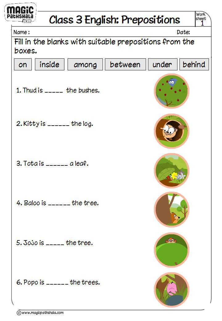 This Worksheet Is Dealing With Filling In Prepositions A