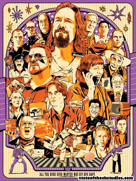 Darin Shock Big Lebowski Poster Release Big Lebowski Poster The Big Lebowski Mondo Posters