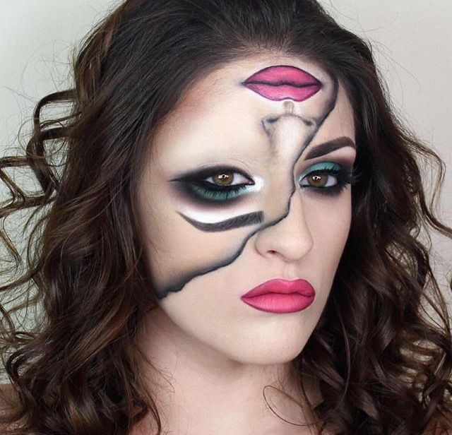 That is really kind of super cool autumn and winter pinterest maquillage halloween - Maquillage halloween couple ...