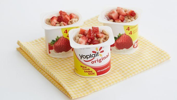 When yogurt, cereal and fruit combine, it's breakfast in a cup!