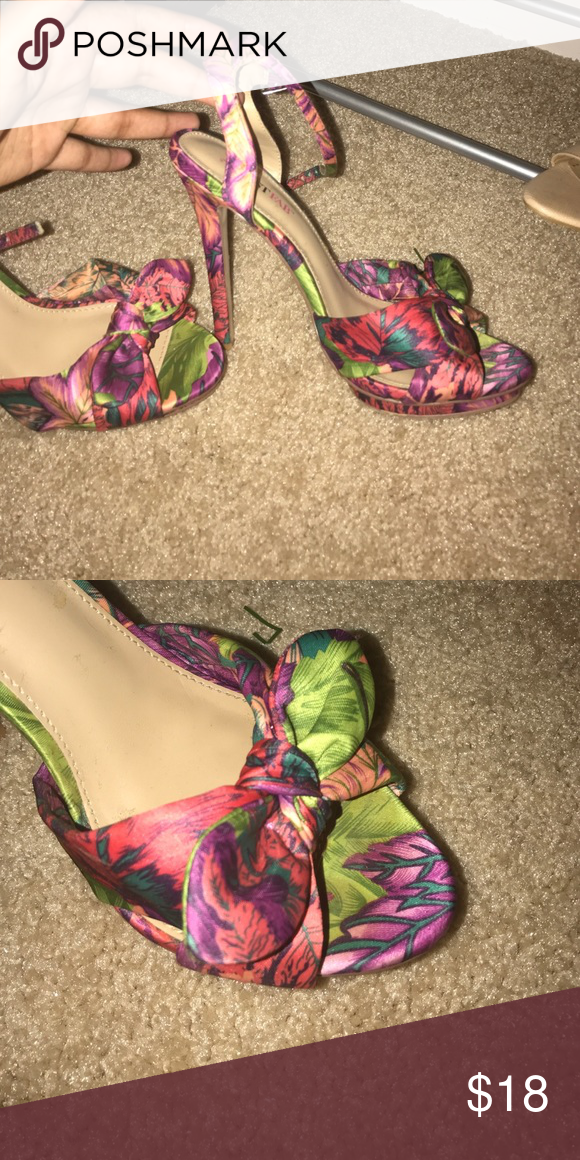 Colorful Shoes Tropical High Sandals JustFab Shoes Sandals