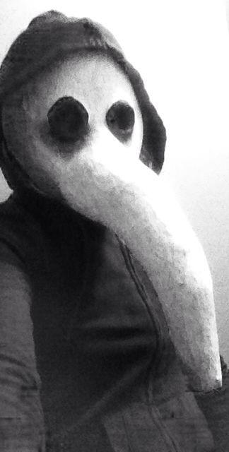 Plague doctor mask Halloween diy