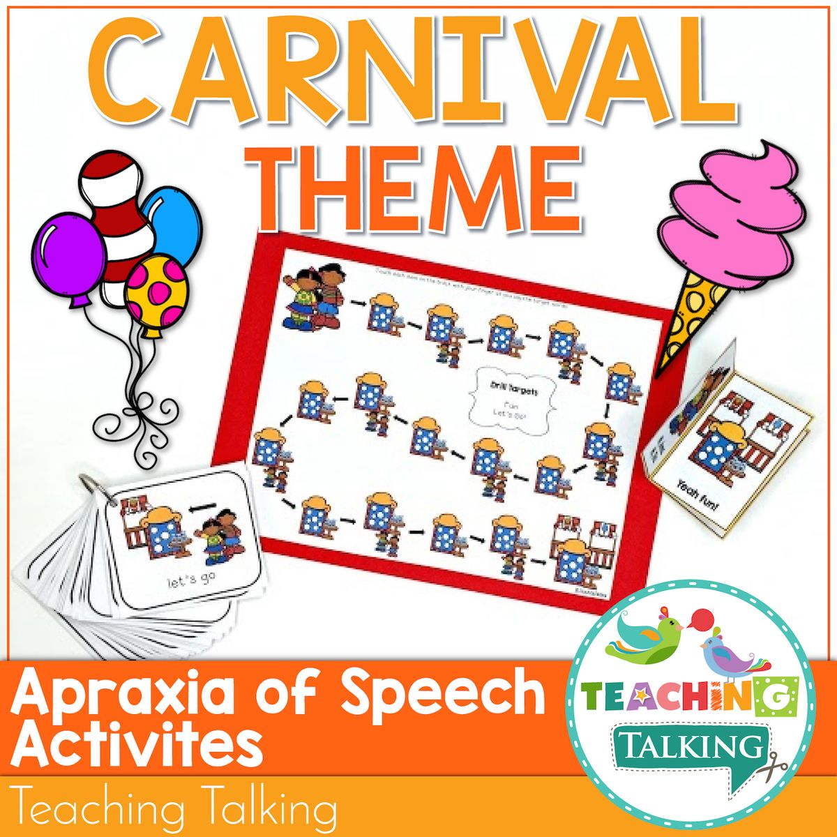Apraxia Of Speech Activities Carnival Theme