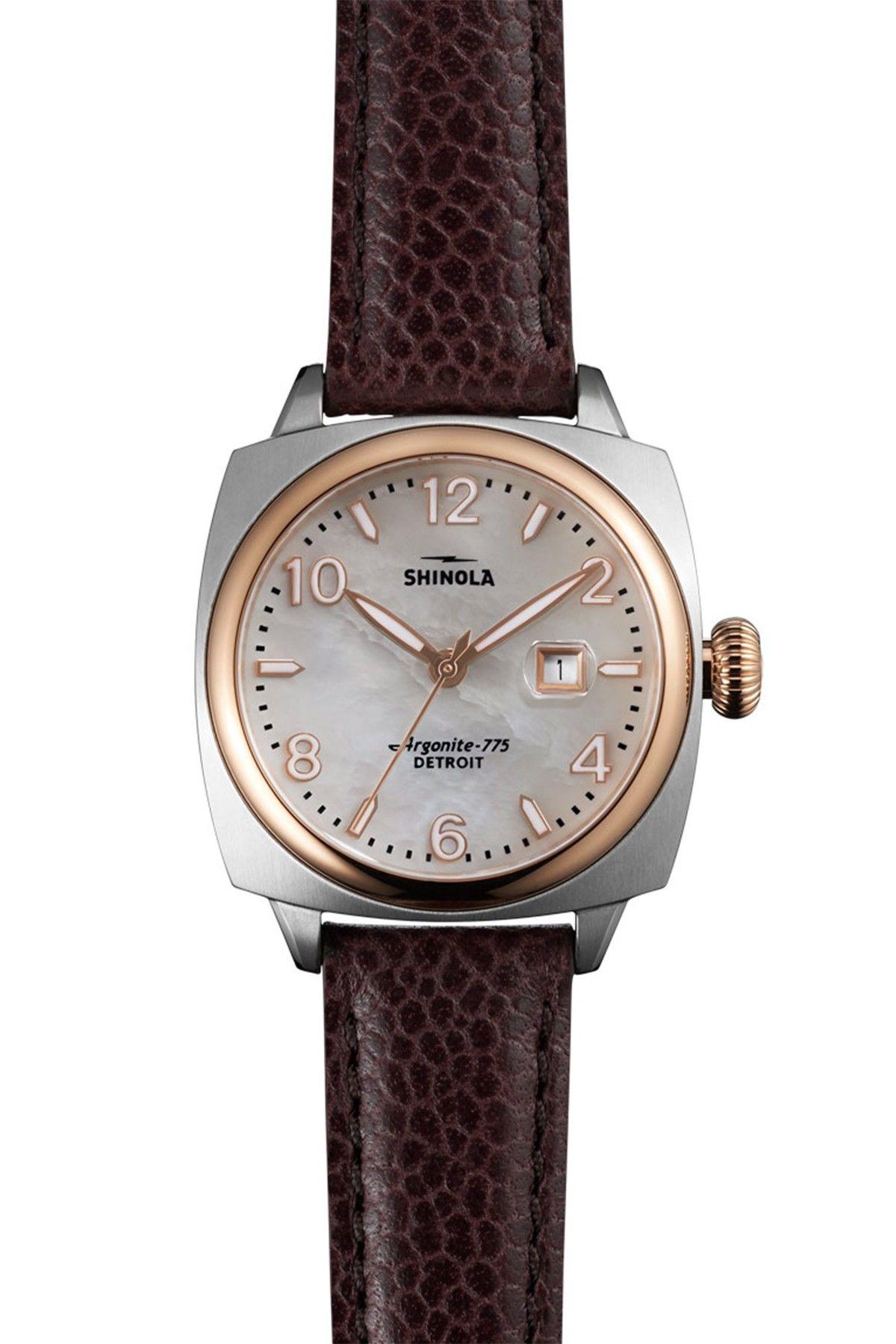 Women's Brakeman Leather Watch by Shinola on nordstrom