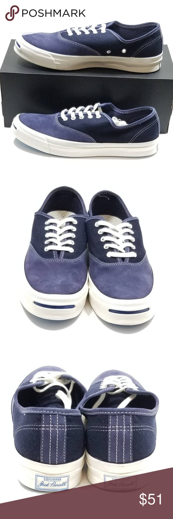32f0d3fb97f3 CONVERSE JACK PURCELL SIGNATURE OX MEN SZ 11 CONVERSE JACK PURCELL  SIGNATURE CVO OX MEN SIZE 11 BLUE SUEDE NWOB Converse Shoes Sneakers