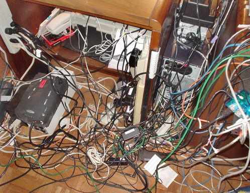 cable management solution needed fast wiring disasters. Black Bedroom Furniture Sets. Home Design Ideas